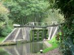 Kings Langley Lock 69a lockgates - Grand Union Canal in England.