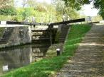 The canal  Lockgates at Grand Union Canal Lock 44.