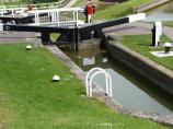 Foxton Staircase Lock 10 on The Leicester Canal in England.