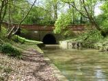 Husbands Bosworth Tunnel east portal, Leicester Canal in England.