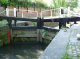 Lock Gates at Leicester's Lime Kiln Lock, Leicester Canal.