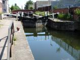 View into Leicester Canal's North Lock 42