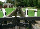Watford Top Lock 7 on The Leicester Canal in England.