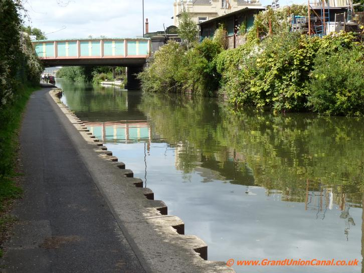 Acton Lane Bridge Goes Over The Paddington Canal Arm London