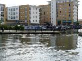 Parking area for a few narrowboats, Paddington Canal Arm, London.