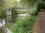 Footbridge 28 on the River Stort Navigation, England