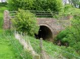 Small brick tunnel taking the River Avon under the Canal