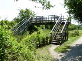 Pat Saunders footbridge no.4, Wendover Canal Arm in England.